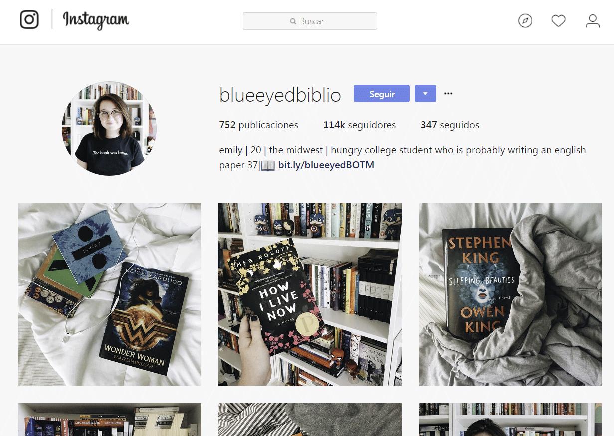 Bookstagram - Blue Eyed Biblio