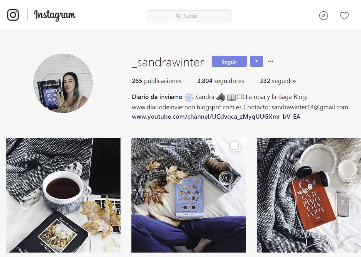 Bookstagram - Sandra Winter