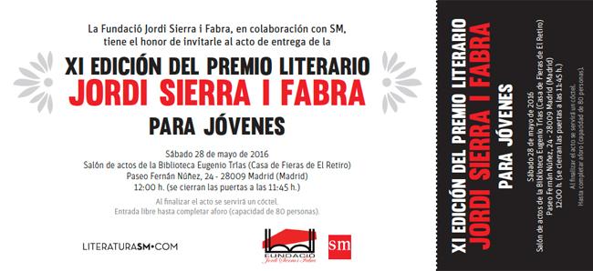 Invitación Jordi Sierra i Fabra