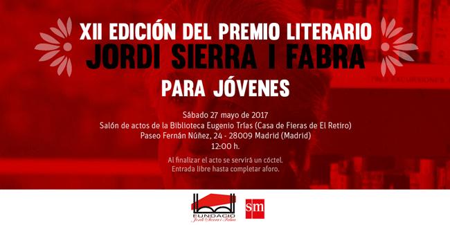 Premio Jordi Sierra i Fabra 2017