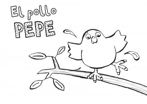 Colorea al Pollo Pepe 1