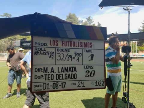 Claqueta rodaje Los Futbolísimos