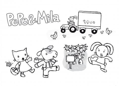 Colorea a Pepe y Mila