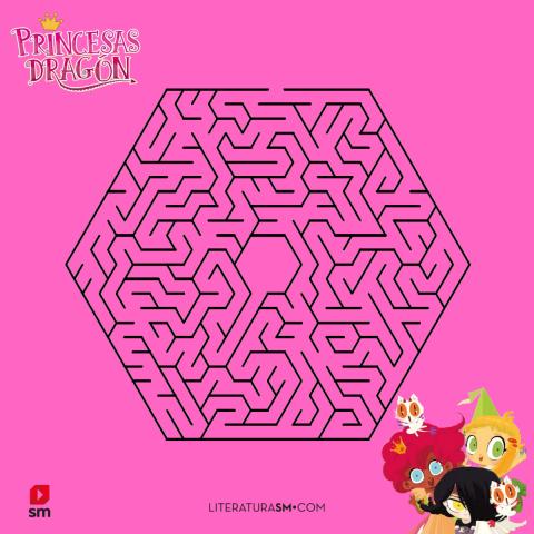 Laberinto Princesas Dragón rosa