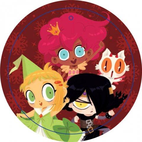 Bola Navidad Princesas Dragón